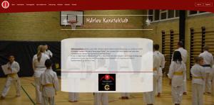 Billede af kommende hjemmeside for haarlevkarate